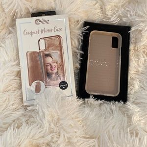 Compact mirror phone case